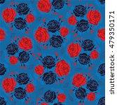 abstract flower seamless...   Shutterstock .eps vector #479350171