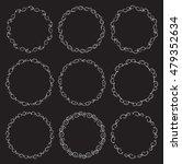 set of 9 vector decorative... | Shutterstock .eps vector #479352634