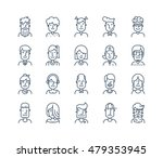 set of icons people avatars for ... | Shutterstock .eps vector #479353945