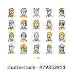 set of icons people avatars for ... | Shutterstock .eps vector #479353951