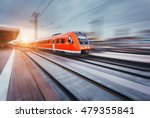 beautiful railway station with... | Shutterstock . vector #479355841