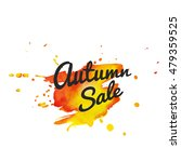 autumn sale lettering on... | Shutterstock .eps vector #479359525