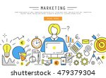 marketing and finance linear... | Shutterstock .eps vector #479379304