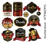 attractive drinks labels set ... | Shutterstock . vector #479382991