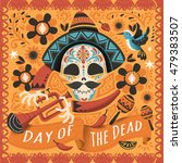 day of the dead poster  mexican ... | Shutterstock . vector #479383507
