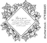 vintage delicate invitation... | Shutterstock . vector #479388685