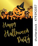 halloween party design template ... | Shutterstock .eps vector #479392057