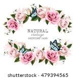 natural vintage greeting frame... | Shutterstock .eps vector #479394565