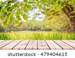 empty wooden table with autumn... | Shutterstock . vector #479404615