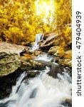 landscape of peaceful waterfall ... | Shutterstock . vector #479404939