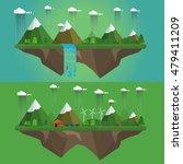 rainy season vector concept of... | Shutterstock .eps vector #479411209