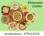 vietnamese cuisine seafood... | Shutterstock .eps vector #479412535