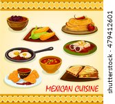 mexican cuisine spicy dishes...   Shutterstock .eps vector #479412601