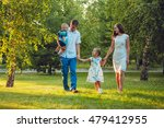 happy young family of four... | Shutterstock . vector #479412955