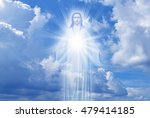 Jesus Christ In Sky With Cloud...