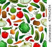 pattern of fresh vegetables on... | Shutterstock .eps vector #479414254