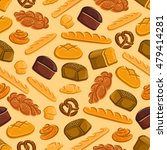 seamless bread and pastries...   Shutterstock .eps vector #479414281
