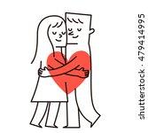 vector illustration   couple is ... | Shutterstock .eps vector #479414995