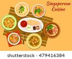 singaporean cuisine chicken... | Shutterstock .eps vector #479416384