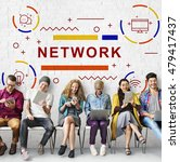 network connection internet... | Shutterstock . vector #479417437