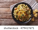 Penne Pasta With Pesto  Chicke...