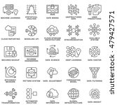 modern contour icons database... | Shutterstock .eps vector #479427571