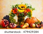 Autumn Still Life With Flowers  ...