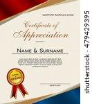 certificate of appreciation... | Shutterstock .eps vector #479429395