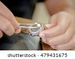 fitting a watch battery | Shutterstock . vector #479431675