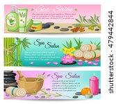 spa salon horizontal banners...   Shutterstock .eps vector #479442844