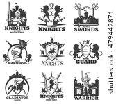 knights black white emblems... | Shutterstock .eps vector #479442871