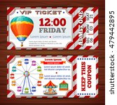 amusement park tickets with red ... | Shutterstock .eps vector #479442895