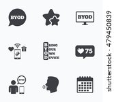 byod icons. human with notebook ... | Shutterstock .eps vector #479450839