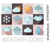 weather flat icons | Shutterstock . vector #479453797