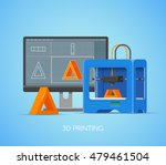 3d printing vector concept... | Shutterstock .eps vector #479461504