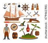 vector set of sea pirates... | Shutterstock .eps vector #479461981