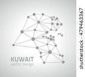 kuwait  grey dot perspective... | Shutterstock .eps vector #479463367