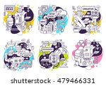 vector set of illustration of... | Shutterstock .eps vector #479466331