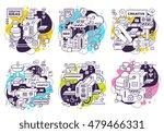 vector set of illustration of... | Shutterstock .eps vector #479466331