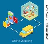 isometric online shopping. flat ... | Shutterstock .eps vector #479477695