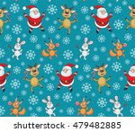 christmas seamless pattern with ... | Shutterstock .eps vector #479482885