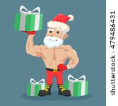 strong santa clause holding... | Shutterstock .eps vector #479486431