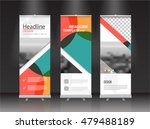 roll up banner stand design.... | Shutterstock .eps vector #479488189