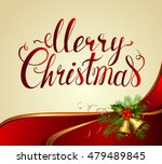 merry christmas poster with... | Shutterstock .eps vector #479489845