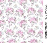 hand drawn sealess pattern  ... | Shutterstock . vector #479490961