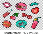 vector colorful quirky patches... | Shutterstock .eps vector #479498251