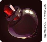 red bottle empty.love potion...   Shutterstock .eps vector #479501785