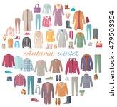 set of autumn winter clothes.... | Shutterstock .eps vector #479503354