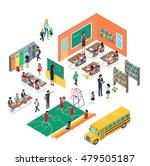 school conceptual vector in...   Shutterstock .eps vector #479505187