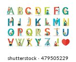 english alphabet with humans... | Shutterstock .eps vector #479505229